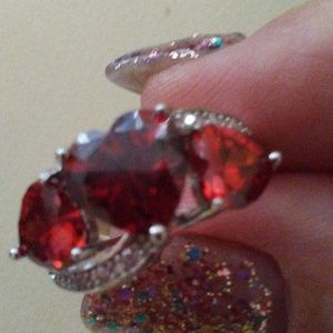 Jewelry - 925 SS RUBY. 4.18 CARATS RING NWT